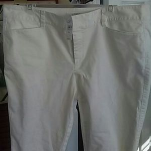 Loft new white ankle pants